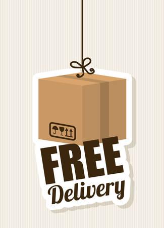 article marketing: Delivery design over beige background, vector illustration.