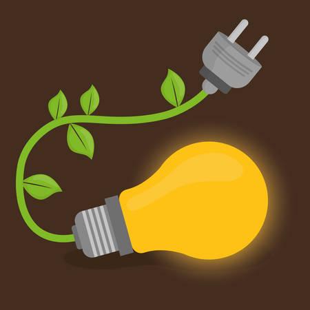 safe world: Energy design over brown background, vector illustration.
