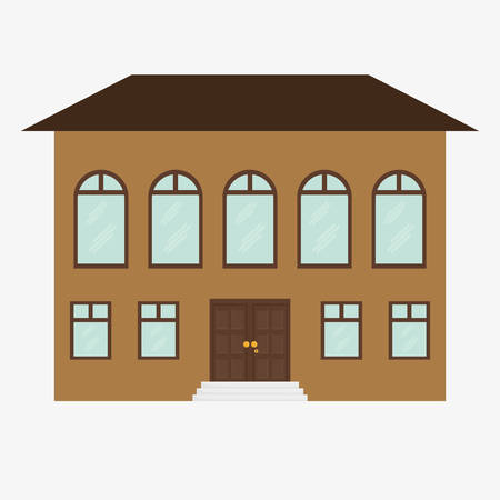 traditional house: House design over white background, vector illustration.