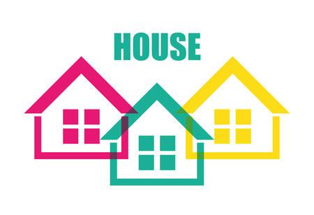 hometown: House design over white background, vector illustration.
