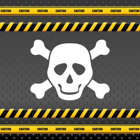 barrier tape: Danger design over white background, vector illustration.