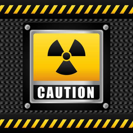 barrier tape: Danger design over black background, vector illustration.