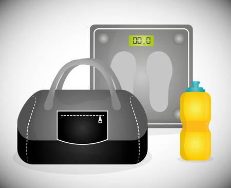 energy balance: Gym digital design, vector ilustration eps 10.