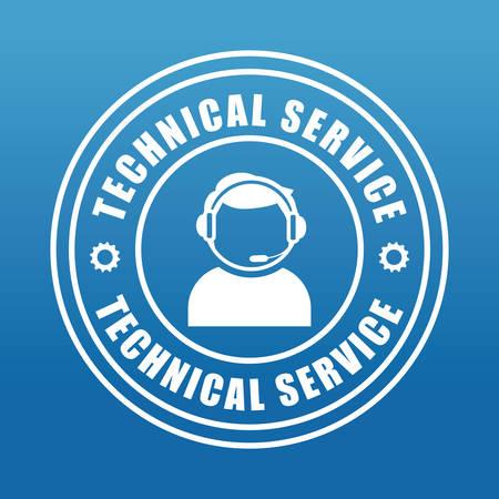 mobile operators: Technical service design, vector illustration eps 10. Illustration