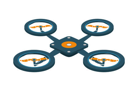 unmanned: Drone concept represented by robot  icon over flat and isolated background