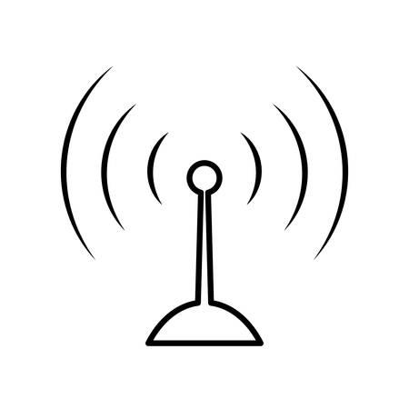 Antenne-Symbol Auf Weißem Hintergrund Vektor-Illustration Lizenzfrei ...