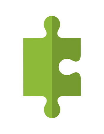 Spielkonzept von Puzzle-Stück-Symbol über flache und isolierte Hintergrund dargestellt