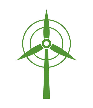 wind mill: Save energy concept represented by wind mill icon over flat and isolated background Illustration