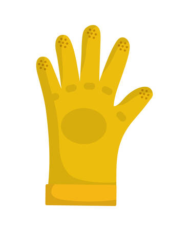 precautions: Industrial security concept represented by glove icon over flat and isolated background Illustration