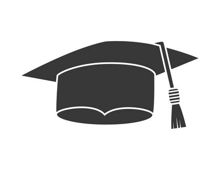 college student: Graduation and University concept represented by graduation cap  icon over flat and isolated background Illustration