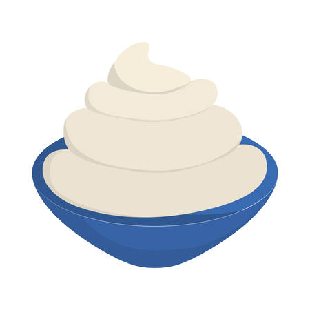 flavour: Bakery concept represented by flavour cream icon over flat and isolated background