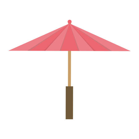 dynasty: Japan culture concept represented by umbrella icon over flat and isolated background Illustration