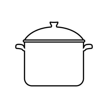 cooking pot: Menu and kitchen represented by cooking pot  icon over isolated and flat background Illustration