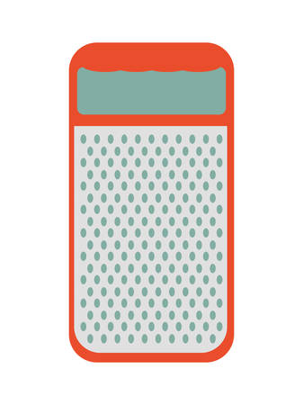 cheese grater: Menu and kitchen represented by cheese grater icon over isolated and flat background Illustration