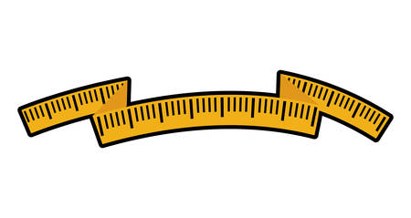 Measure tape  represented by meter icon over isolated and flat background