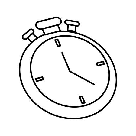 chronometer: Time represented by chronometer icon over isolated and flat background