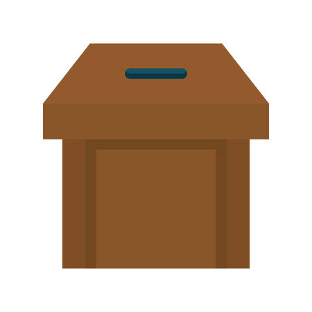 presidental: Vote represented by vote box  icon over isolated and flat background