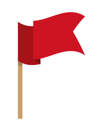 pennant: Pennant represented by flag icon over isolated and flat background Illustration