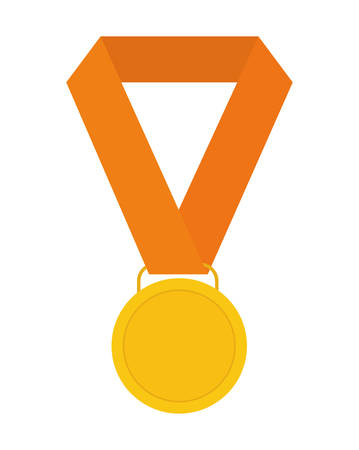 first job: Winner represented by medal icon over isolated and flat background