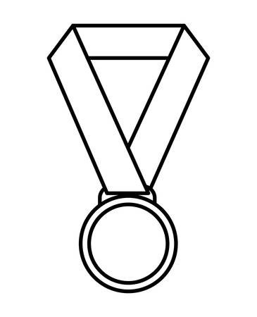 competitors: Winner represented by medal icon over isolated and flat background