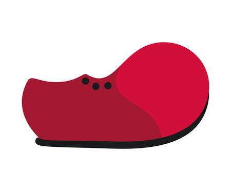 clown shoes: Circus and carnival concept represented by clown shoe icon over isolated and flat background