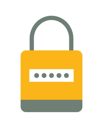 detected: Security system represented by padlock icon over isolated and flat background