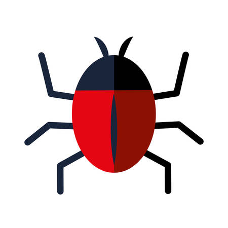 parasitic infestation: Insect represented by bug icon over isolated and flat background Illustration