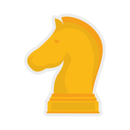 represented: Chess represented by piece icon over isolated and flat background