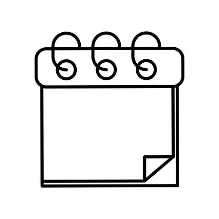 ring binder: Calendar represented by planner icon over isolated and flat background
