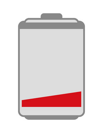low energy: Energy represented by low battery icon over isolated and flat background