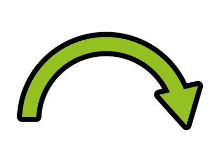 orientation marker: Direction concept represented by arrow icon over isolated and flat background