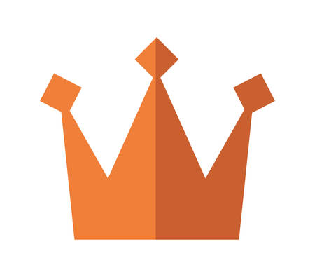 royalty: Royalty concept represented by crown icon over isolated and flat background
