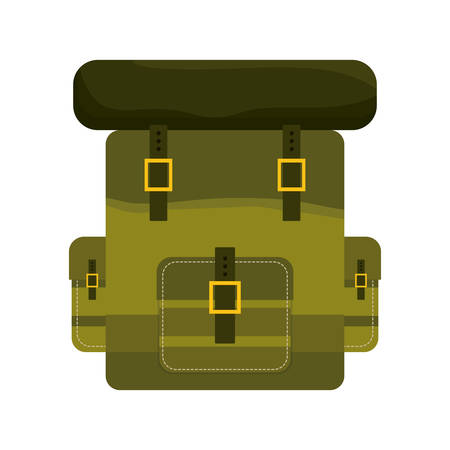 armed: Armed forces concept represented by bag icon over isolated and flat background Illustration