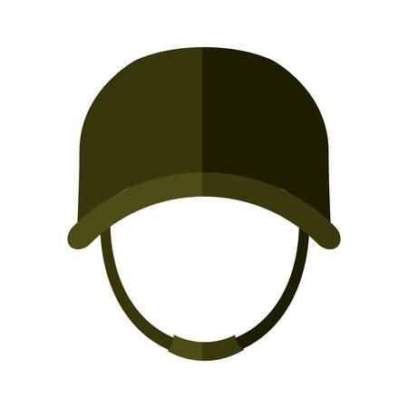 british army: Armed forces concept represented by helmet icon over isolated and flat background