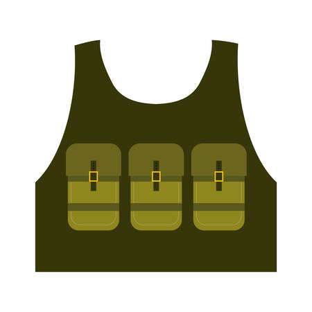 british army: Armed forces concept represented by jacket icon over isolated and flat background