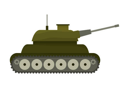 armed: Armed forces concept represented by tank icon over isolated and flat background Illustration