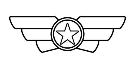 forces: Armed forces concept represented by medal icon over isolated and flat background Illustration