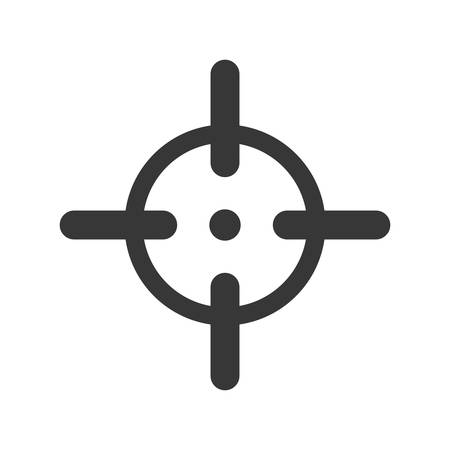 armed: Armed forces concept represented by sight icon over isolated and flat background