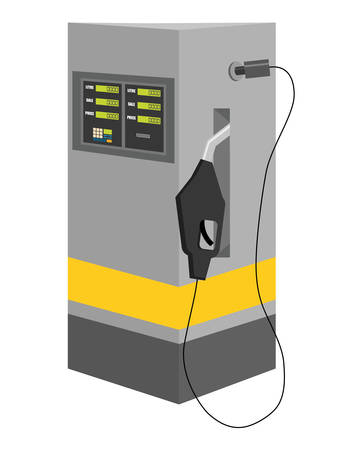 petrochemical plant: Gasoline station concept represented by dispenser icon over isolated and flat background