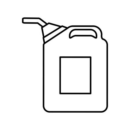 petrochemical: Gasoline station concept represented by barrel icon over isolated and flat background Illustration
