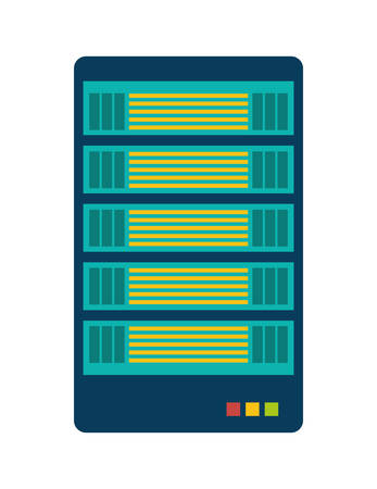 value system: Data center concept represented by web hosting icon over isolated and flat background