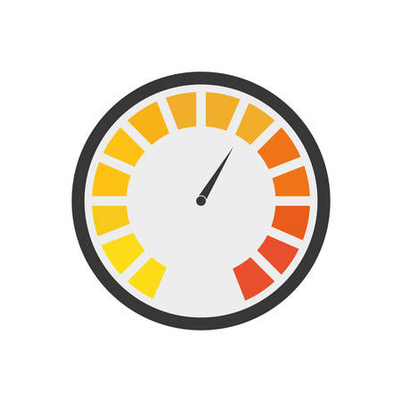 instrument of measurement: Instrument of measurement represented by gauge icon over isolated and flat background Illustration