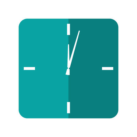 time frame: Time concept represented by frame clock icon over isolated and flat background Illustration