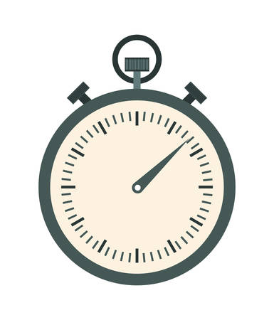 chronometer: Time concept represented by chronometer icon over isolated and flat background