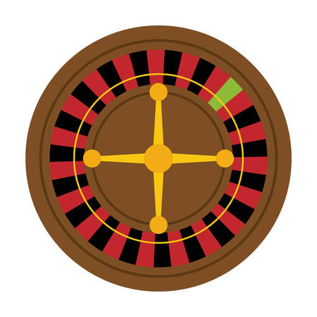 addicted: Casino and las vegas concept represented by roulette icon over flat and isolated background Illustration