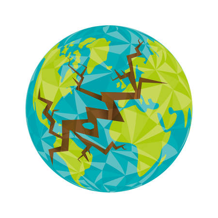 environment geography: Planet concept represented by earth icon. isolated and flat illustration