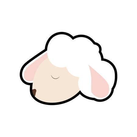 'wildlife reserve': Cute animal concept represented by sheep icon. isolated and flat illustration