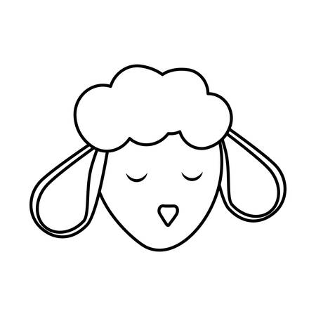 wildlife reserve: Cute animal concept represented by sheep icon. isolated and flat illustration