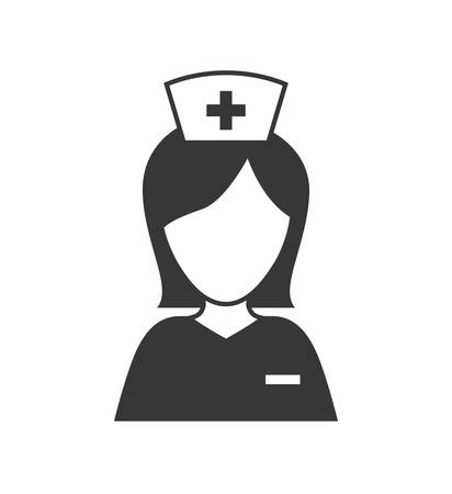 health care concept: Medical and Health care concept represented by nurse icon. isolated and flat illustration