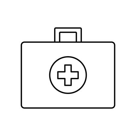 health care concept: Medical and Health care concept represented by medical kit icon. isolated and flat illustration